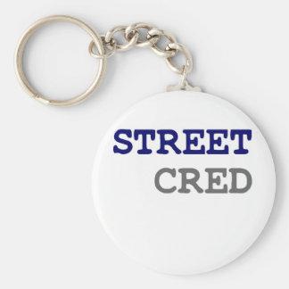 STREET CRED BASIC ROUND BUTTON KEYCHAIN