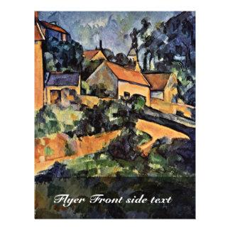 "Street Curve In Montgeroult By Paul Cézanne 8.5"" X 11"" Flyer"