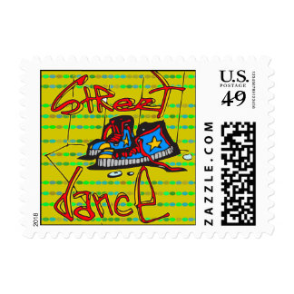 Street Dance and Shoes Postage Stamp