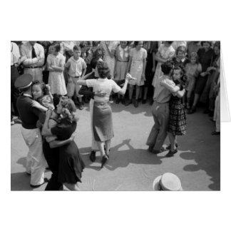 Street Dance, Crowley, Louisiana, 1930s Card