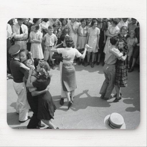 Street Dance, Crowley, Louisiana, 1930s Mouse Pad