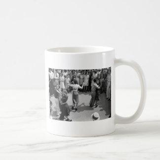 Street Dance, Crowley, Louisiana, 1930s Classic White Coffee Mug