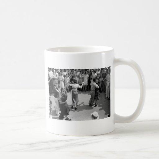 Street Dance, Crowley, Louisiana, 1930s Coffee Mugs