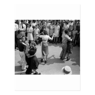 Street Dance, Crowley, Louisiana, 1930s Postcard