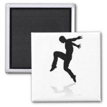 Street Dance Dancer Silhouette Magnet