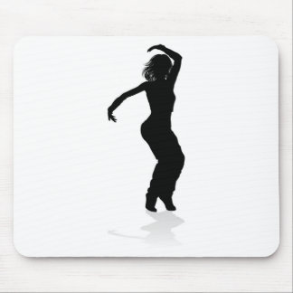 Street Dance Dancer Silhouette Mouse Pad