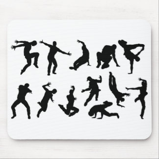 Street Dance Dancer Silhouettes Mouse Pad