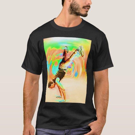 Street Dancing, Green/Yellows/Oranges, No-Sil't T-Shirt