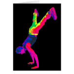 Street Dancing - Multi-Colour, Black Back Card