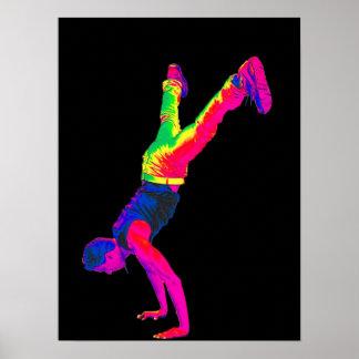 Street Dancing - Multi-Colour, Black Back Poster