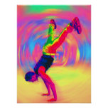 Street Dancing, Rainbow, Radial Poster