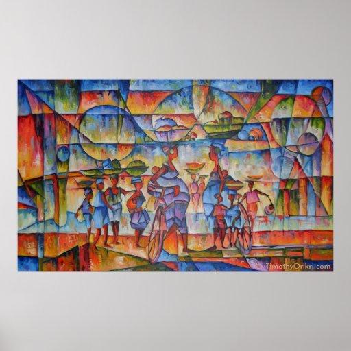Street Dialogue II - Canvas Print
