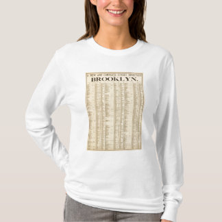 Street directory of Brooklyn 1st page T-Shirt