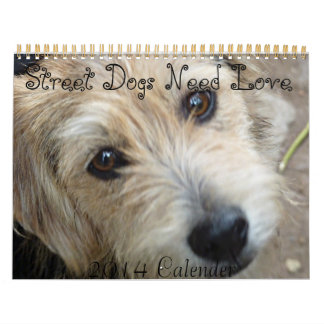 Street Dogs Need Love 2014 Calender Calendar