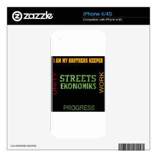 STREET EKONOMIKS DECALS FOR iPhone 4S
