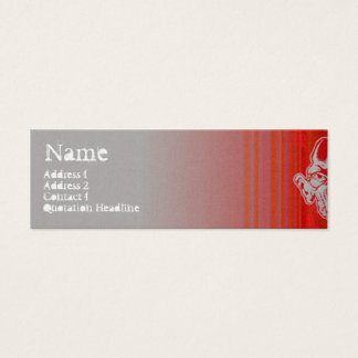 STREET FACES red Mini Business Card