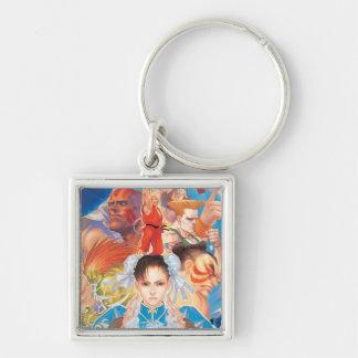 Street Fighter 2 Chun-Li Group Key Chain