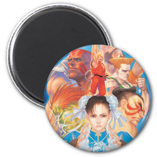 Street Fighter 2 Chun-Li Group Magnet