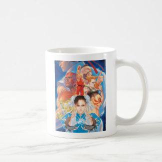 Street Fighter 2 Chun-Li Group Classic White Coffee Mug