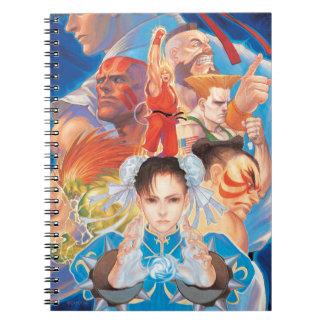 Street Fighter 2 Chun-Li Group Spiral Notebook