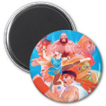 Street Fighter 2 Ryu Group 2 Inch Round Magnet