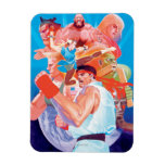 Street Fighter 2 Ryu Group Flexible Magnet