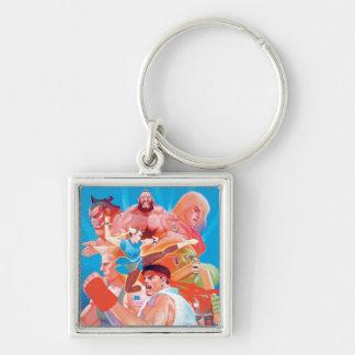 Street Fighter 2 Ryu Group Keychain