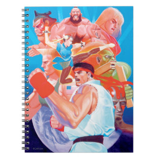 Street Fighter 2 Ryu Group Spiral Note Book