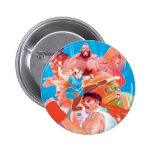 Street Fighter 2 Ryu Group Pinback Buttons