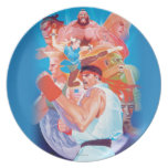 Street Fighter 2 Ryu Group Plate