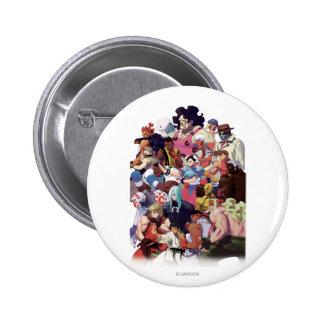 Street Fighter 3 Third Strike Cast Pinback Buttons
