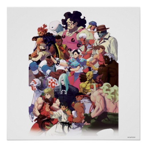 Street Fighter 3 Third Strike Cast Posters