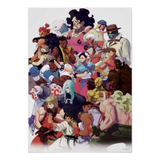 Street Fighter 3 Third Strike Cast Poster