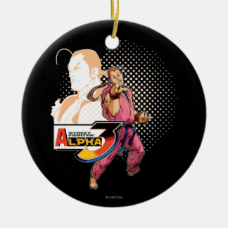 Street Fighter Alpha 3 Dan Double-Sided Ceramic Round Christmas Ornament