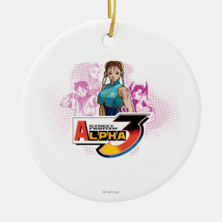 Street Fighter Alpha 3 Femme Fatale Double-Sided Ceramic Round Christmas Ornament
