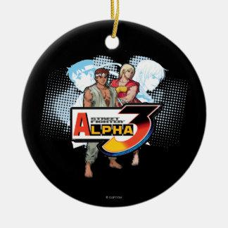 Street Fighter Alpha 3 Ken & Ryu Ceramic Ornament