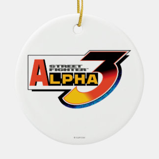 Street Fighter Alpha 3 Logo Double-Sided Ceramic Round Christmas Ornament