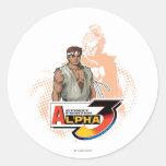 Street Fighter Alpha 3 Ryu & Akuma Classic Round Sticker