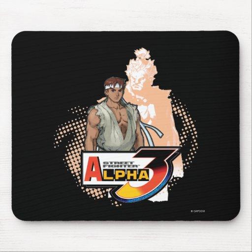 Street Fighter Alpha 3 Ryu & Akuma Mouse Pad