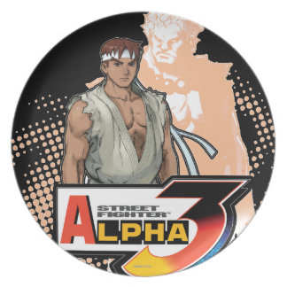 Street Fighter Alpha 3 Ryu & Akuma Plate