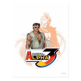 Street Fighter Alpha 3 Ryu & Akuma Postcard