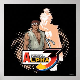 Street Fighter Alpha 3 Ryu & Akuma Poster