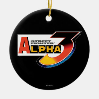 Street Fighter Alpha 3 Shadowloo Double-Sided Ceramic Round Christmas Ornament