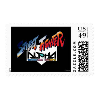 Street Fighter Alpha Logo 2 Postage