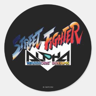 Street Fighter Alpha Logo Classic Round Sticker