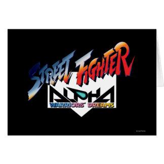 Street Fighter Alpha Logo Greeting Card