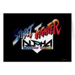 Street Fighter Alpha Logo Greeting Cards