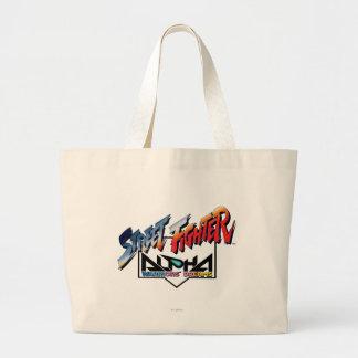 Street Fighter Alpha Logo Jumbo Tote Bag
