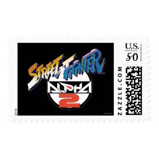 Street Fighter Alpha Logo Postage