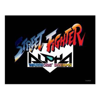 Street Fighter Alpha Logo Postcard